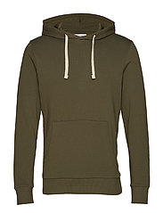 JJEHOLMEN SWEAT HOOD NOOS - OLIVE NIGHT