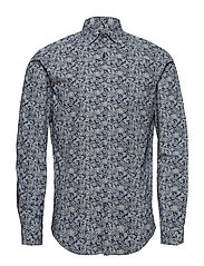 JPRRAY PAISLEY SHIRT L/S PLAIN - NAVY BLAZER