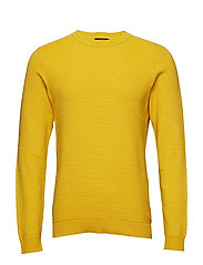 JPRRIFF KNIT CREW NECK - MISTED YELLOW
