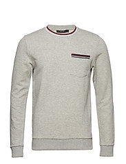 JPRSCOTT SWEAT LS CREW NECK EXP - LIGHT GREY MELANGE