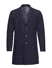 JPRMOULDER WOOL COAT STS - DARK NAVY