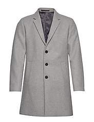 JPRMOULDER WOOL COAT STS - LIGHT GREY MELANGE