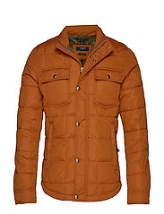 JPRLAMBERT QUILT JACKET - LEATHER BROWN
