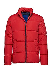 JORKNIGHT PUFFER STAND COLLAR - SCARLET
