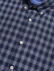 Jack & Jones - JORDENNIS SHIRT SS - rutiga skjortor - navy blazer - 3
