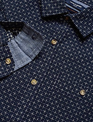 Jack & Jones - JPRBLUEASTON SHIRT L/S ONE POCKET - casual skjortor - navy blazer - 3