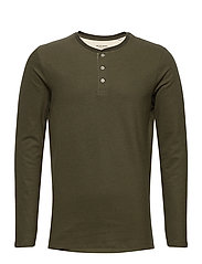 JJEJEANS HENLEY L/S NOOS - OLIVE NIGHT