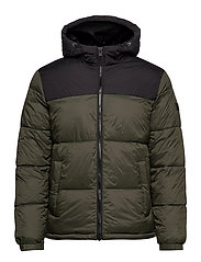 JJDREW PUFFER HOOD LTN - FOREST NIGHT
