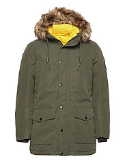 JJSKY PARKA JACKET LTN - FOREST NIGHT