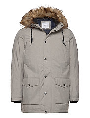 JJSKY PARKA JACKET LTN - LIGHT GREY MELANGE