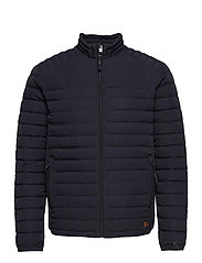 JJBASE LIGHT COLLAR JACKET - DARK NAVY
