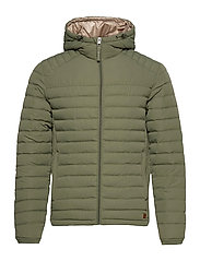 JJBASE LIGHT HOOD JACKET - DUSTY OLIVE