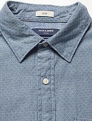 Jack & Jones - JPRBLUNICK MIX SHIRT L/S ONE POCKET LTN - basic skjortor - medium blue denim - 2