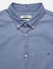 Jack & Jones - JPRBLALOGO STRETCH DENIM SHIRT L/S STS - basic skjortor - light blue denim - 3
