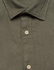 Jack & Jones - JPRBLUPLAIN LINEN SHIRT L/S - basic skjortor - beetle - 2