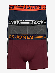 JACLICHFIELD TRUNKS 3 PACK NOOS - bokserit - burgundy