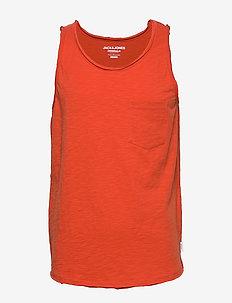 JORWALLET TANK TOP STS - basic t-shirts - chili