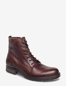 JFWORCA LEATHER BROWN STONE - veter schoenen - brown stone