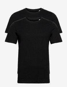 JACBASIC CREW NECK TEE SS 2 PACK - basic t-shirts - black