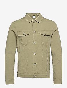 JJIALVIN JJJACKET AKM 528 NOOS - denim jackets - deep lichen green