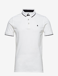 JJEPAULOS POLO SS NOOS - short-sleeved polos - white