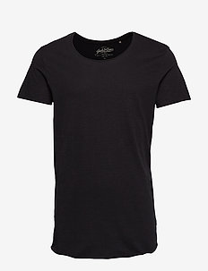JJEBAS TEE SS U-NECK NOOS - basic t-shirts - black