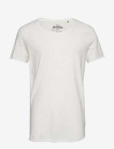 JJEBAS TEE SS U-NECK NOOS - t-shirts basiques - cloud dancer