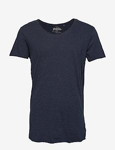 JJEBAS TEE SS U-NECK NOOS - basic t-shirts - navy blazer