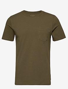 JJEPOCKET TEE SS O-NECK NOOS - basic t-shirts - olive night