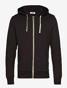 JJEHOLMEN SWEAT ZIP HOOD NOOS - basic sweatshirts - black