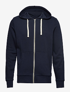 JJEHOLMEN SWEAT ZIP HOOD NOOS - perus-college-paitoja - navy blazer