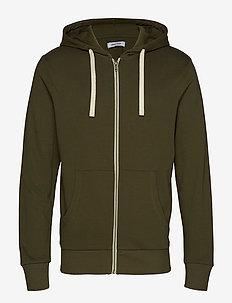 JJEHOLMEN SWEAT ZIP HOOD NOOS - basic sweatshirts - olive night