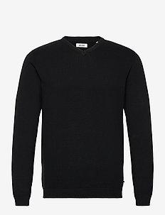JJEBASIC KNIT V-NECK - knitted v-necks - black