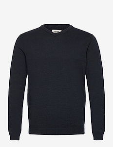 JJEBASIC KNIT V-NECK NOOS - v-hals - navy blazer