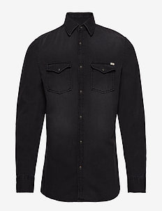 JJESHERIDAN SHIRT L/S NOOS - BLACK DENIM