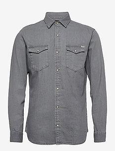 JJESHERIDAN SHIRT L/S - jeansskjortor - light grey denim