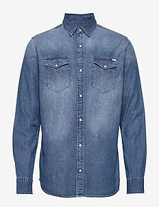 JJESHERIDAN SHIRT L/S NOOS - MEDIUM BLUE DENIM