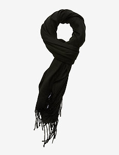 JACSOLID WOVEN SCARF NOOS - BLACK
