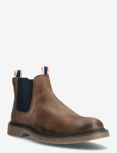 JFWLEYTON LEATHER - chelsea boots - brown stone