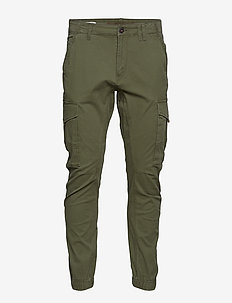 JJIPAUL JJFLAKE AKM 542 OLIVE NIGHT NOOS - pantalon cargo - olive night