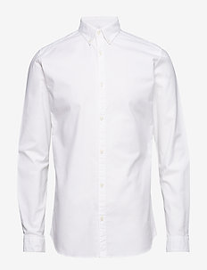 JPRLOGO STRETCH SHIRT L/S NOOS - business shirts - white