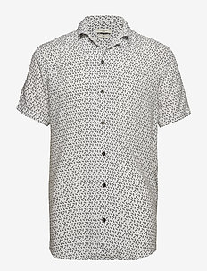 JPRRUSTY VISCOSE SHIRT S/S - WHITE