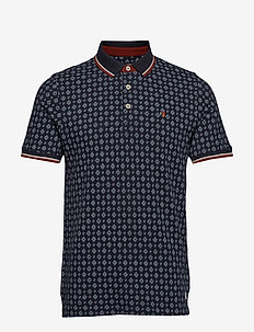 JPRPAULOS PLAY AOP BLU. SS POLO - DARK NAVY
