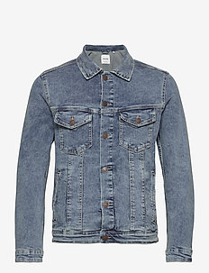 JJIALVIN JJJACKET SA 002 NOOS - denimjakker - blue denim