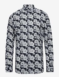 JPRLUCA PRINT SHIRT L/S PRE - chemises décontractées - navy blazer