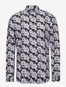 JPRLUCA PRINT SHIRT L/S PRE - casual shirts - nightshade