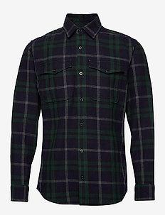 JPRSPENCER OVERSHIRT L/S - chemises à carreaux - navy blazer