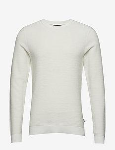 JJELIAM KNIT CREW NECK NOOS - basic knitwear - jet stream