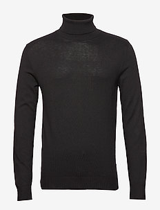 JJEEMIL KNIT ROLL NECK NOOS - col roulé - black
