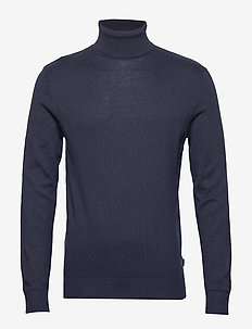 JJEEMIL KNIT ROLL NECK NOOS - NAVY BLAZER